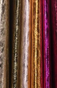 Metallized lamb leather from Pellami Daniele