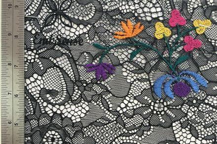 Embsense Multi-color Organza lace