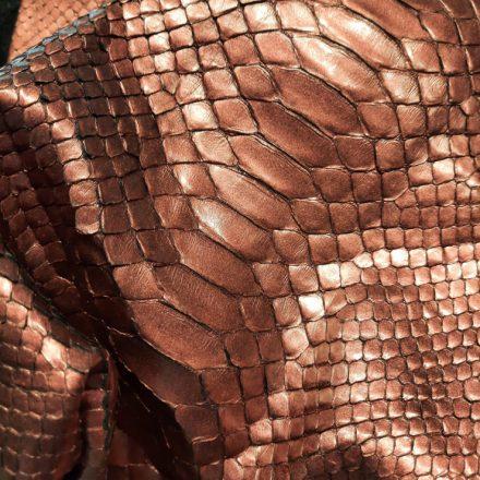 python, cuir, finition pigmentée